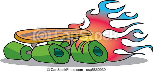 Skateboard - csp5850930