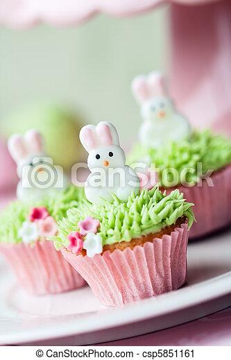 Cupcakes, 復活節 - csp5851161