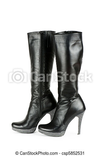 Fashion concept with woman top boots  - csp5852531