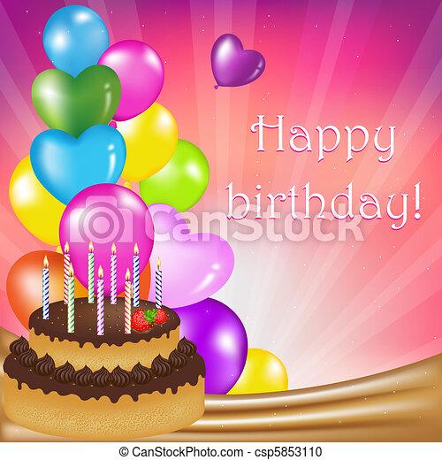 Birthday Day Card - csp5853110