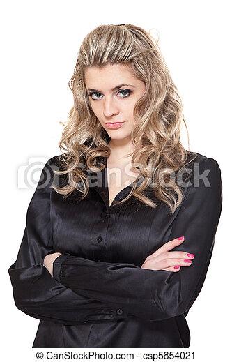 Upset beautiful woman - csp5854021