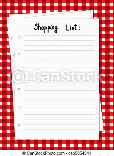Blank shopping list - csp5854341