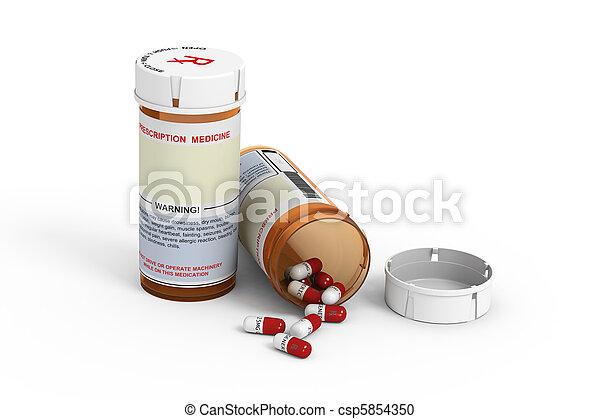 Prescription Bottles - csp5854350