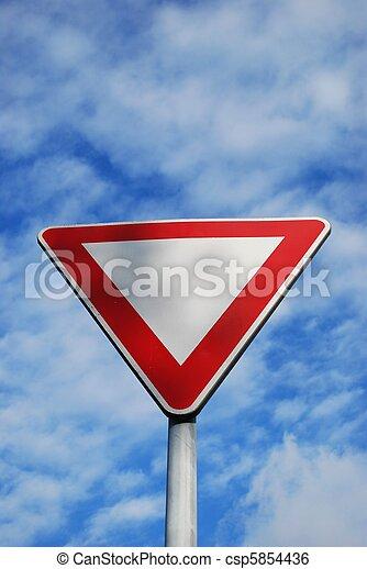 Give way - csp5854436