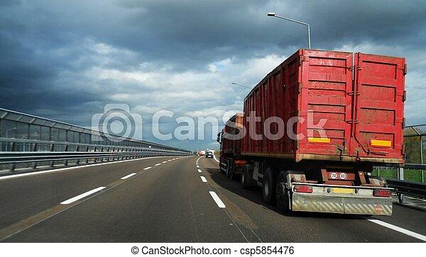 Red truck - csp5854476