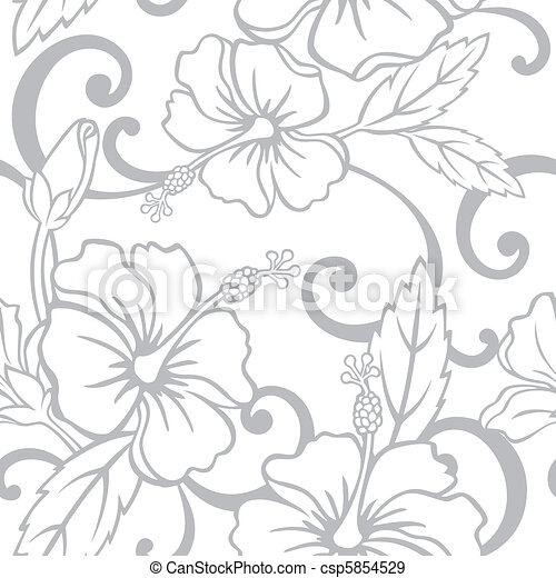 Seamless Hawaiian Wedding Pattern - csp5854529