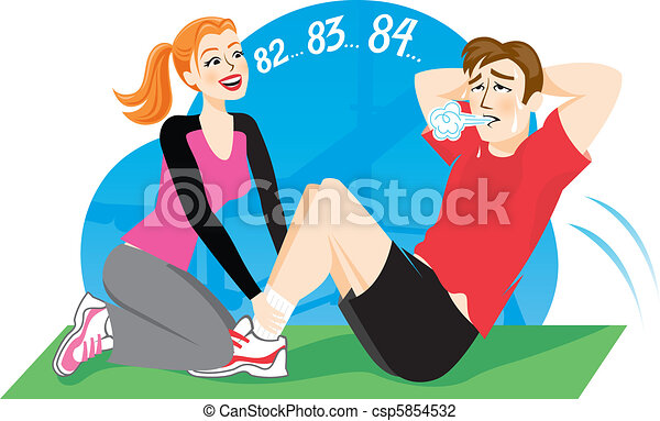 Vector Illustration of Sports Trainer - Vector Illustration of a ...