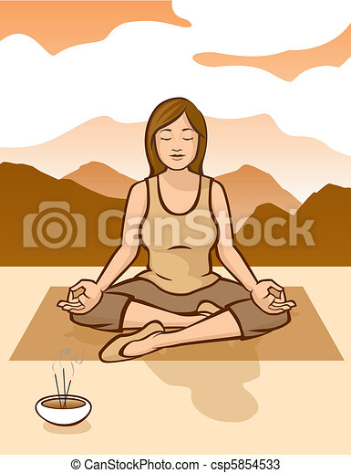 Sunrise Meditation - csp5854533