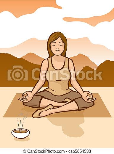 Sunrise Meditation - csp5854533