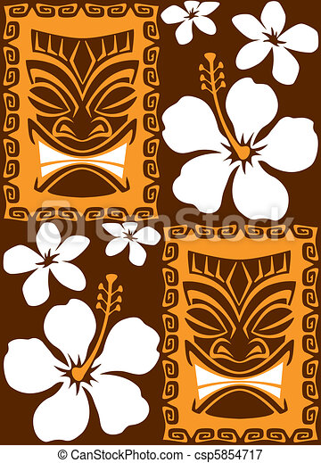 Seamless Tiki Tiles - csp5854717