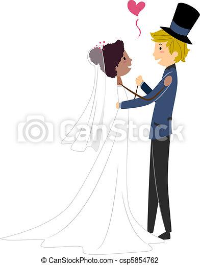 Interracial Wedding - csp5854762