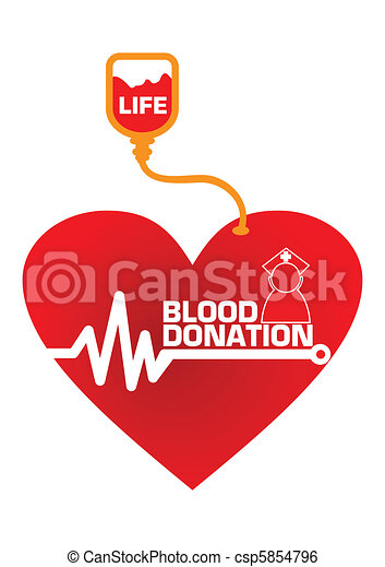 Blood Donation Concept Illustration in Vector - csp5854796