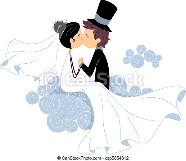 Wedding Kiss - csp5854812