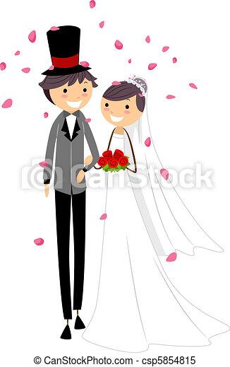 Wedding Petals - csp5854815