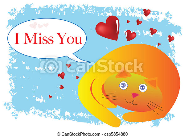 Clip Art Miss You Clipart miss you illustrations and clip art 898 royalty free cat i illustration in vector