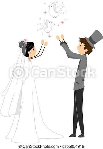 Wedding Doves - csp5854919