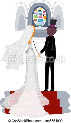 illustration de glise mariage illustration de a nouveau mari csp5854990 recherchez. Black Bedroom Furniture Sets. Home Design Ideas