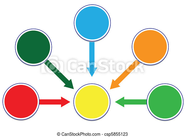 Profit and Wealth Distribution Circle Illustration in Vector - csp5855123