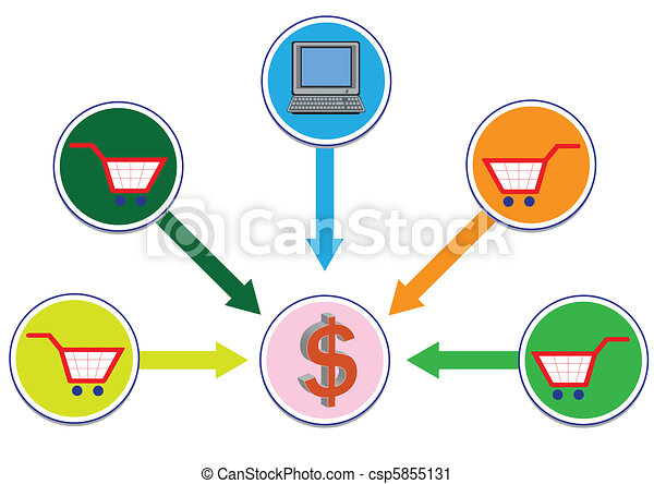 Profit and Wealth Distribution Circle Illustration in Vector - csp5855131