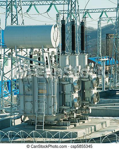 Power Plant Transformer - csp5855345