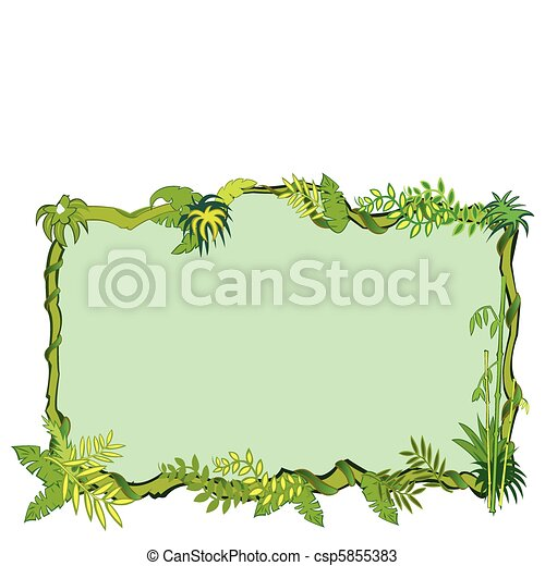 Jungle frame concept in vector - csp5855383