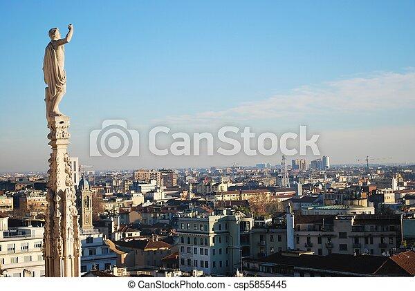 Panoramic view of Milan - csp5855445