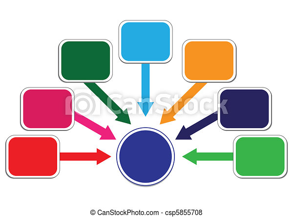 Profit and Wealth Distribution Illustration in Vector - csp5855708