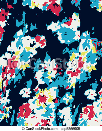 romantic fancy flower wallpaper - csp5855905