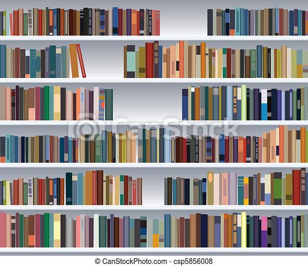 vector modern bookshelf - csp5856008