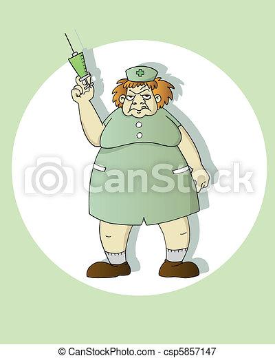 scary nurse - csp5857147