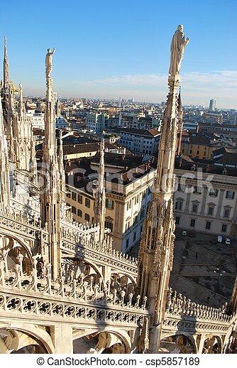 Panoramic view of Milan - csp5857189
