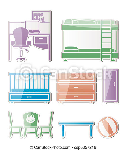nursery and children room objects - csp5857216