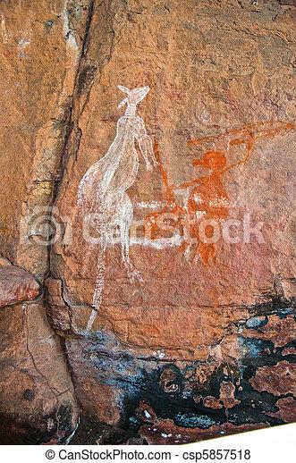 aboriginal graffiti - csp5857518