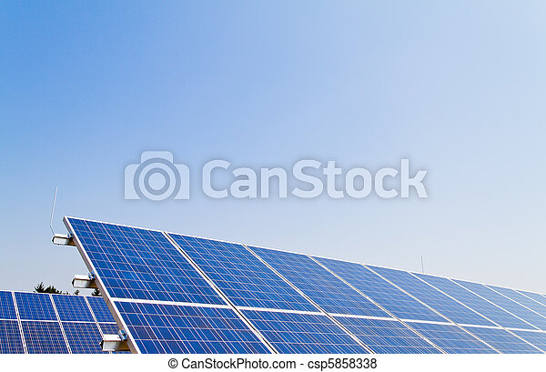 Alternative solar energy. Solar energy power plant - csp5858338