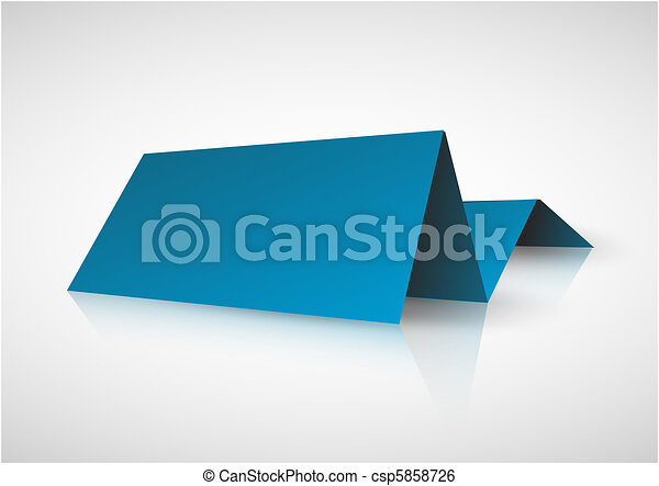 Blue paper tag for important information - csp5858726