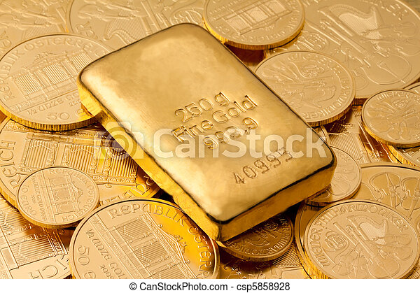 Investment in real gold than gold bullion - csp5858928