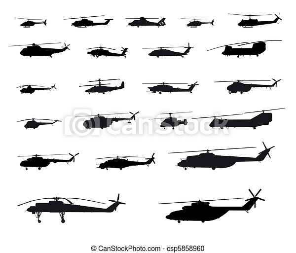 Helicopters of the world - csp5858960