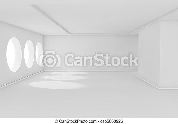 White empty room - csp5860926