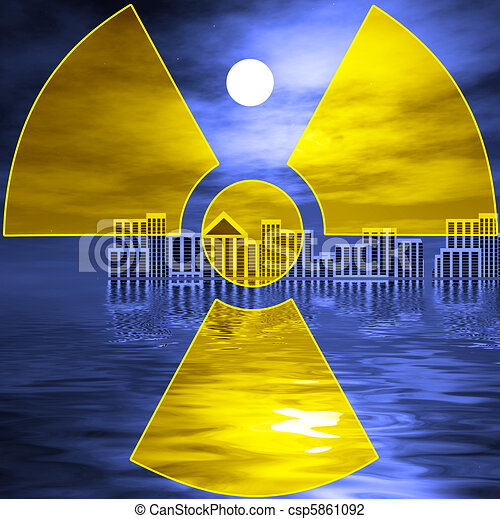 Nuclear disaster after Tsunami - csp5861092