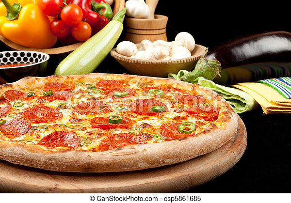 Tasty Pizza - csp5861685