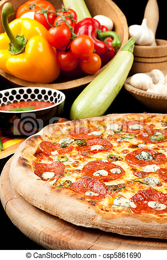 Tasty Pizza - csp5861690