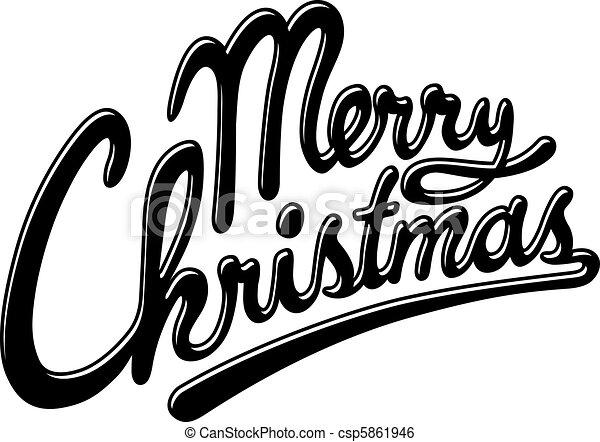 Merry christmas - csp5861946
