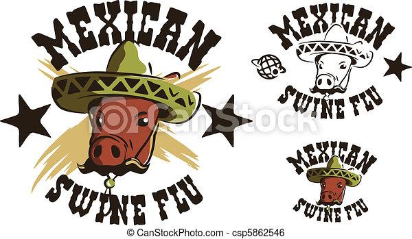 Mexican swine flu - csp5862546