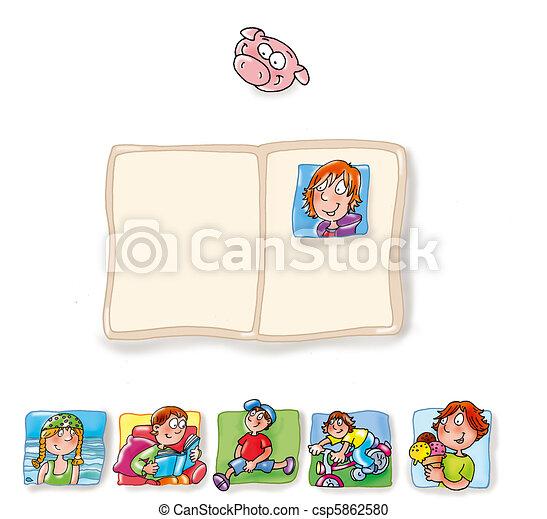 identidade, cartão, criança - csp5862580