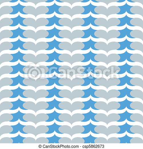 seamless blue heart chevron pattern - csp5862673