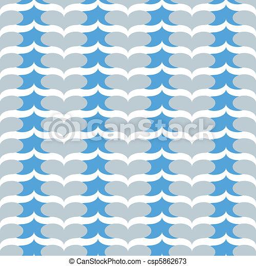 seamless blue heart chevron pattern - csp5862673