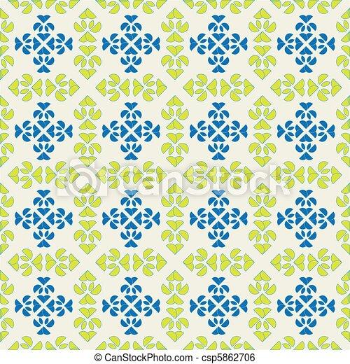 seamless spanish tiles - csp5862706