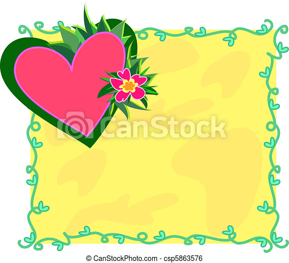 Follow Your Passions Heart Frame - csp5863576