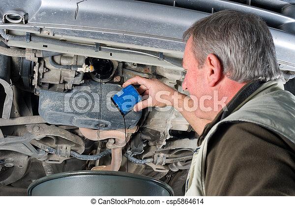 Changing oil filter - csp5864614