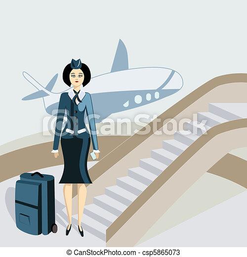 Vetores de jovem stewardess mala jovem stewardess for Sala de estar 3x5